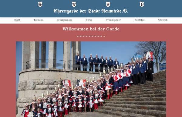 Vorschau von www.ehrengarde-neuwied.de, Ehrengarde der Stadt Neuwied e.V.