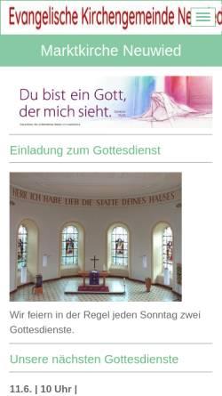 Vorschau der mobilen Webseite www.marktkirche.de, Musik in der Marktkirche Neuwied