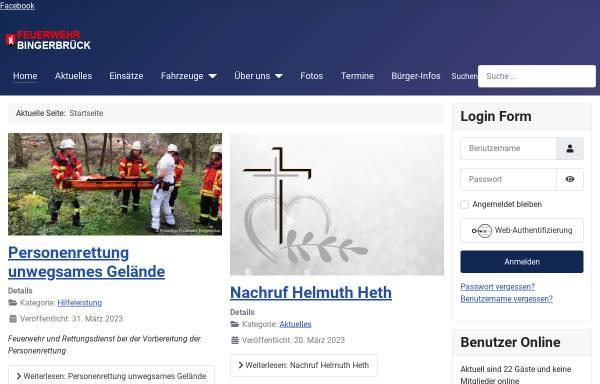 Vorschau von www.feuerwehr-bingerbrueck.de, Freiwillige Feuerwehr Bingen-Bingerbrück
