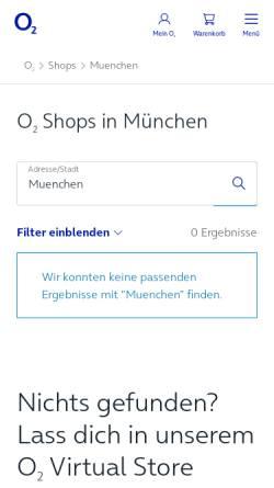 Vorschau der mobilen Webseite www.o2online.de, O2online