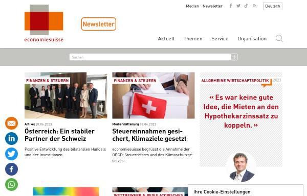 Vorschau von www.economiesuisse.ch, Economiesuisse