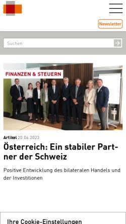 Vorschau der mobilen Webseite www.economiesuisse.ch, Economiesuisse