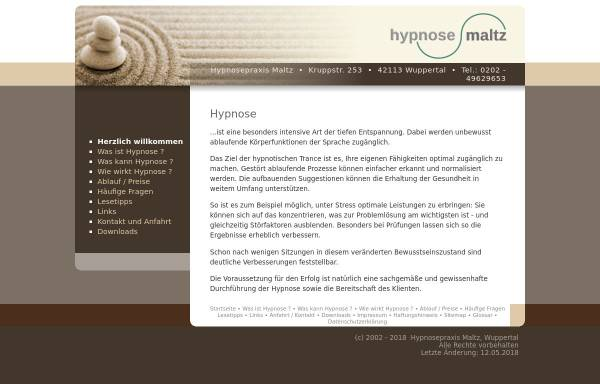 Vorschau von www.hypnose-maltz.de, Holger G. Maltz