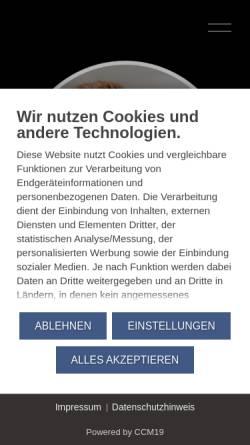 Vorschau der mobilen Webseite www.janvonberg.com, Jan von Berg