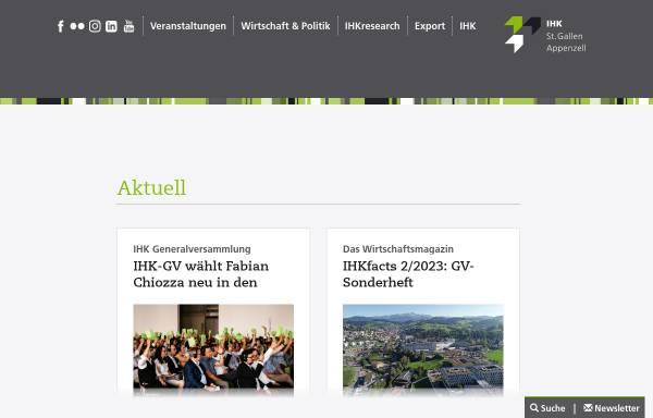 Vorschau von www.ihk.ch, Industrie- und Handelskammer St.Gallen-Appenzell