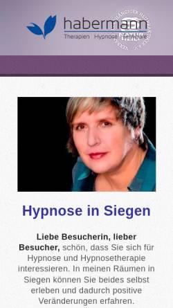 Vorschau der mobilen Webseite www.hypnose-siegen.com, Kerstin Habermann