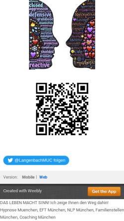 Vorschau der mobilen Webseite www.coaching-eft-hypnose-muenchen.com, Marianne Langenbach