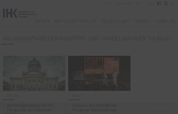 Vorschau von www.ihk-thurgau.ch, Industrie- und Handelskammer Thurgau
