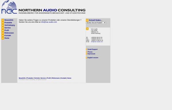 Vorschau von www.nac-audio.com, Northern Audio Consulting