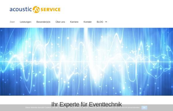 Vorschau von www.acoustic-service.de, Acoustic-Service GbR