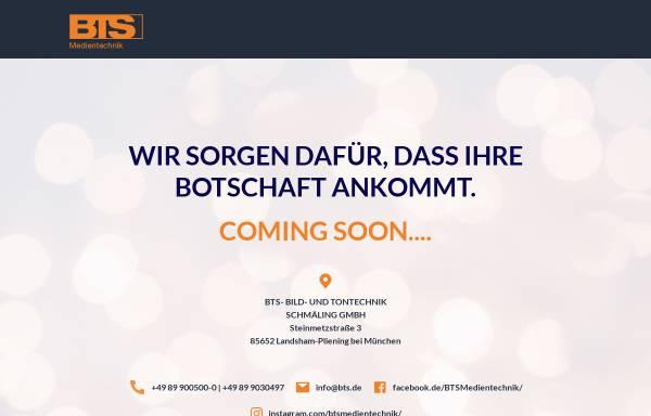Vorschau von www.bts.de, BTS Bild- und Tontechnik Schmäling GmbH