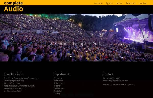 Vorschau von www.complete-audio.com, Complete Audio Veranstaltungstechnik, Inh. Andre Rauhut