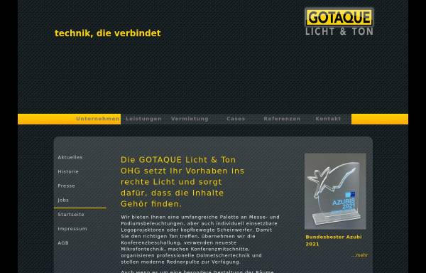 Vorschau von www.gotaque.de, Gotaque Licht & Ton oHG