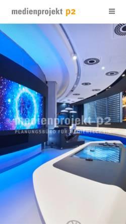 Vorschau der mobilen Webseite medienprojektp2.de, Medienprojekt P2 GmbH