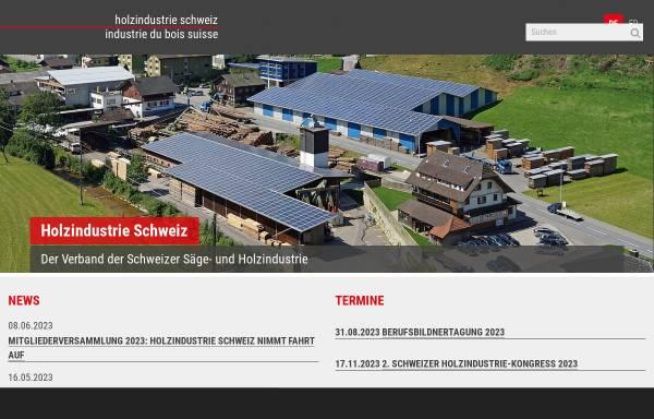 Vorschau von www.holz-bois.ch, Schweizerischer Sägerei- und Holzindustrie-Verband
