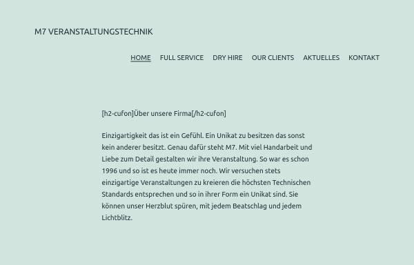 Vorschau von www.mseven.de, M7-Veranstaltungstechnik, Inh. Stefan Linnerer