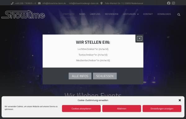 Vorschau von www.showtime-bonn.de, Nallinger Showtime e.K.