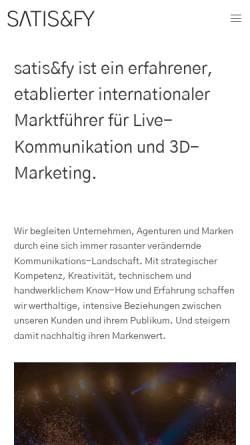 Vorschau der mobilen Webseite www.satis-fy.com, Satis & Fy AG