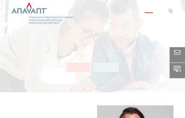 Vorschau von www.anavant.ch, Schweizerischer Verband Technischer Kaderleute