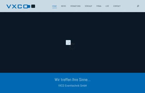 Vorschau von www.vxco.ch, VXCO Licht- & Showtechnik GmbH