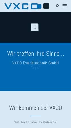 Vorschau der mobilen Webseite www.vxco.ch, VXCO Licht- & Showtechnik GmbH