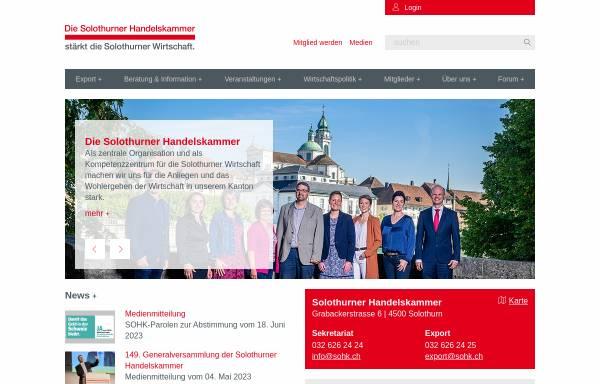 Vorschau von www.sohk.ch, Solothurner Handelskammer