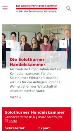 Vorschau der mobilen Webseite www.sohk.ch, Solothurner Handelskammer
