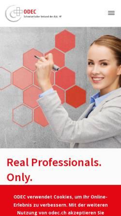 Vorschau der mobilen Webseite www.svts.ch, SVTS - Schweizerischer Verband der Techniker