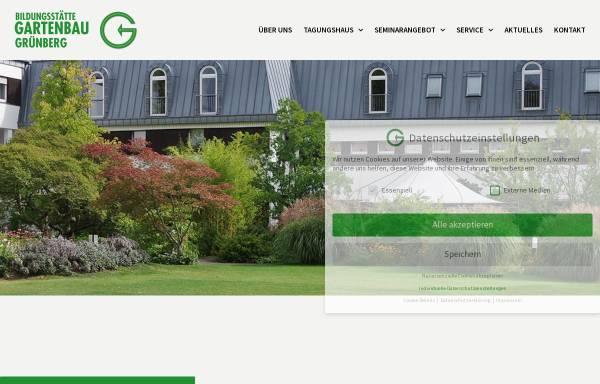 Vorschau von www.bildungsstaette-gartenbau.de, Bildungsstätte Gartenbau Grünberg