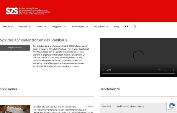 Vorschau von www.szs.ch, SZS - Stahlbau Zentrum Schweiz