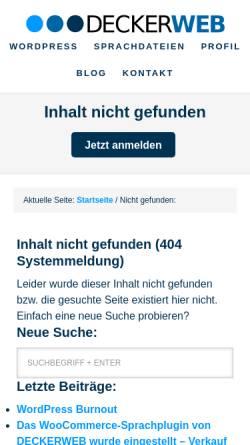 Vorschau der mobilen Webseite www.shinemedia.de, BreakBeaters
