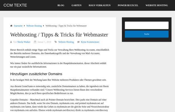 Vorschau von www.ccmtexte.de, CCM Rezis