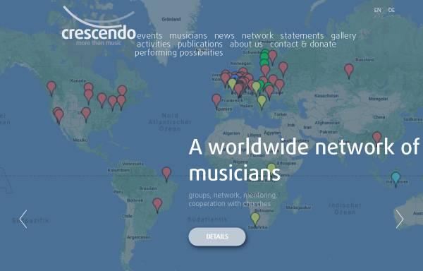 Vorschau von www.crescendo.org, Musikervereinigung Crescendo