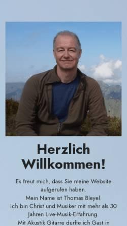 Vorschau der mobilen Webseite www.thomas-bleyel.de, Thomas Bleyel