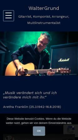 Vorschau der mobilen Webseite www.waltergrund.de, Walter Grund