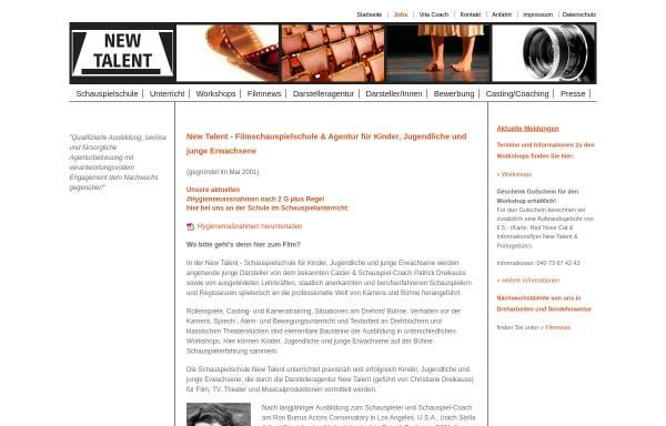 Vorschau von www.newtalentschauspielschule.net, New Talent Schauspielschule & Agentur für Kinder und Jugendliche