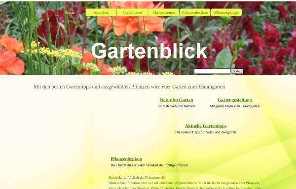 Vorschau von www.gartenblick.de, Gartenblick von Josefine Treczka