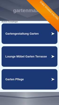 Vorschau der mobilen Webseite www.gartenmax.de, Gartenmax.de