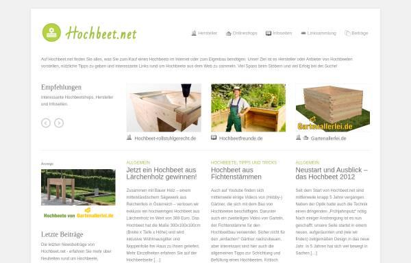 Vorschau von www.hochbeet.net, Hochbeet.net