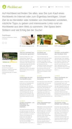 Vorschau der mobilen Webseite www.hochbeet.net, Hochbeet.net
