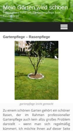 Vorschau der mobilen Webseite www.mein-garten-wird-schoen.de, Mein Garten wird schön