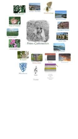 Vorschau der mobilen Webseite www.eisenburger.de, Peters Gartenseiten