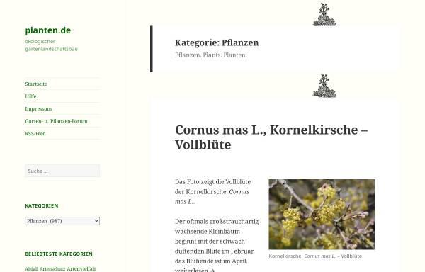 Vorschau von www.planten.de, Pflanzen-Datenbank