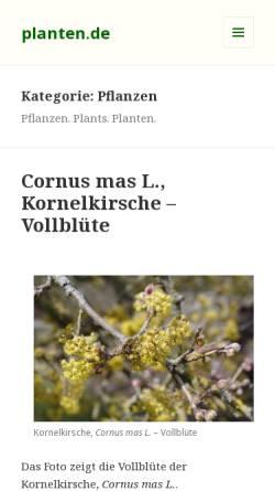 Vorschau der mobilen Webseite www.planten.de, Pflanzen-Datenbank
