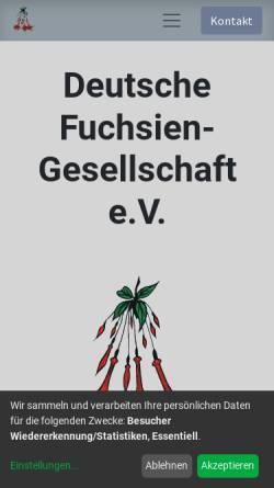 Vorschau der mobilen Webseite www.deutsche-fuchsien-ges.de, Deutsche Fuchsien- Gesellschaft e. V.