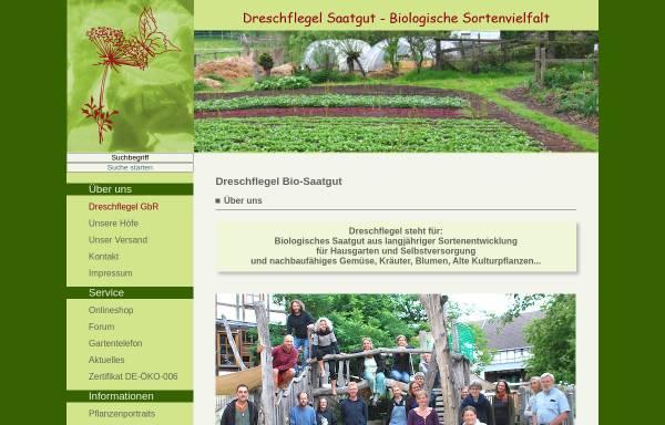 Vorschau von www.dreschflegel-saatgut.de, Dreschflegel GbR Saatgut