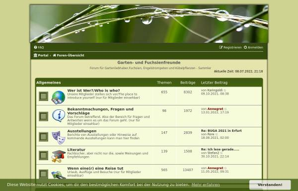 Vorschau von www.fuchsienfreunde.de, Fuchsienfreunde