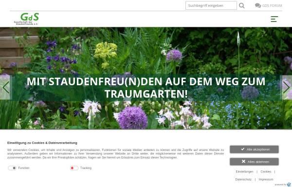 Vorschau von www.gds-staudenfreunde.de, Gesellschaft der Staudenfreunde
