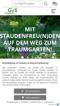 Vorschau der mobilen Webseite www.gds-staudenfreunde.de, Gesellschaft der Staudenfreunde