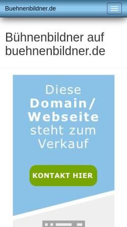 Vorschau der mobilen Webseite www.buehnenbildner.de, Johannes Köhler, Bühnen- und Kostümbildner